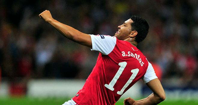 Andre Santos: Enjoying his time at Arsenal despite spending three months on the sidelines
