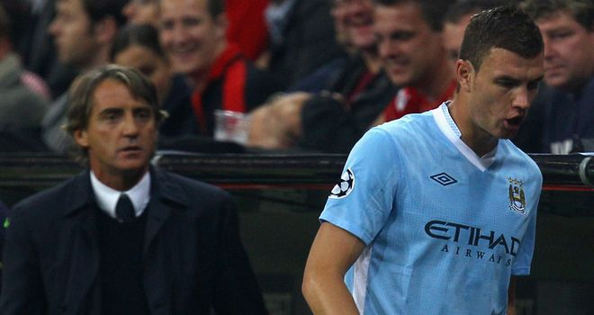 Dzeko: Was not happy about going off