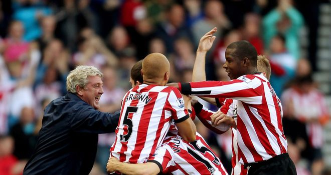 Sunderland: Team celebrated first league win in style