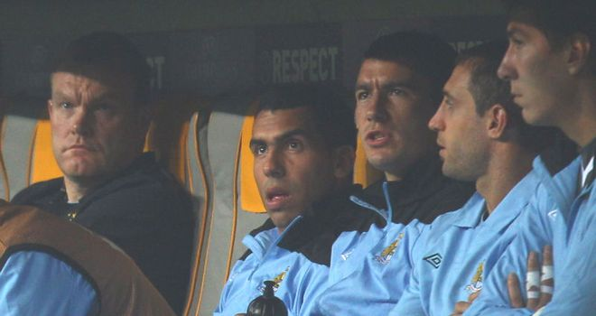 Tevez: Condemned by McCarthy for his behaviour against Bayern Munich