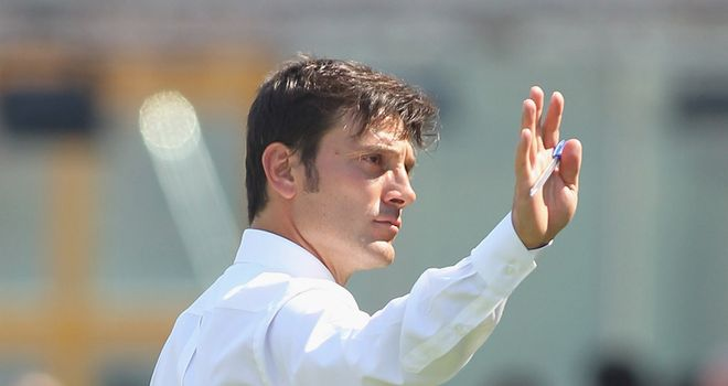 Vincenzo Montella: Waves goodbye to Catania and has been tipped to take over at Fiorentina