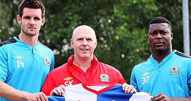 Yakubu is paraded with fellow new signing Scott Dann by Rovers boss Steve Kean