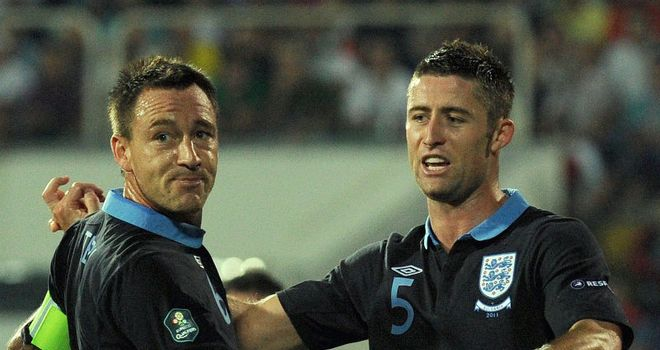 Cahill: Scored for England in Bulgaria and hopes to remain in the team alongside Terry