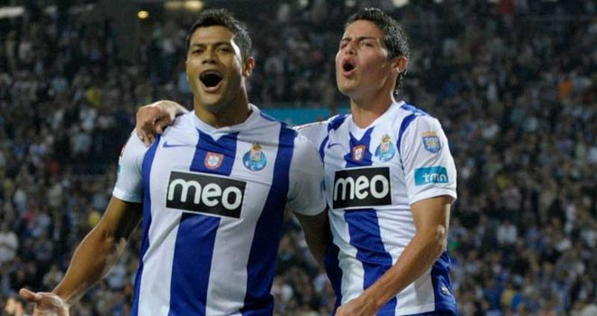 Hulk (left) insists he is not obsessed with leaving Porto