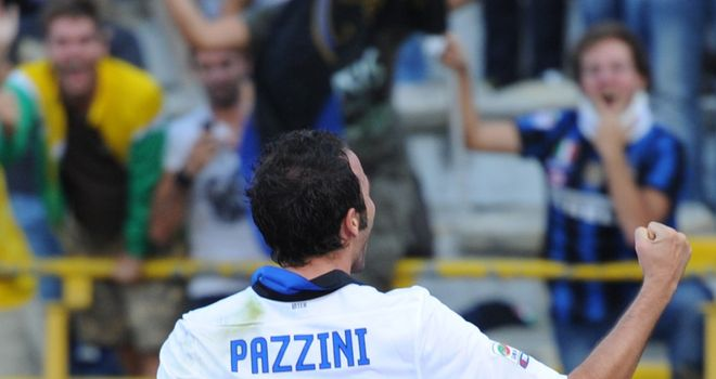 Pazzini: Scored Inter's first goal under Ranieri to set the new manager on his way to a winning start