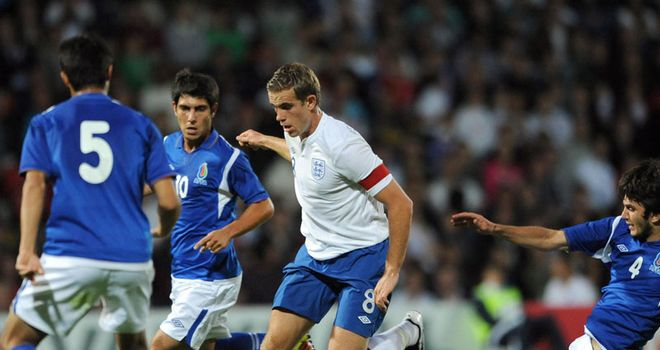 Henderson: Netted the third goal in England Under-21s' 6-0 win over Azerbaijan last week