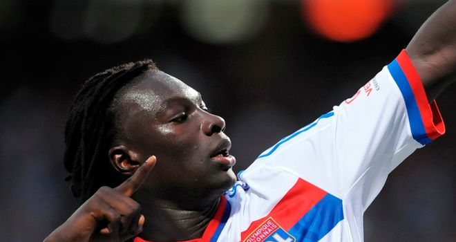 Bafetimbi Gomis: The Lyon striker is hoping to play for France when they take on England in Euro 2012