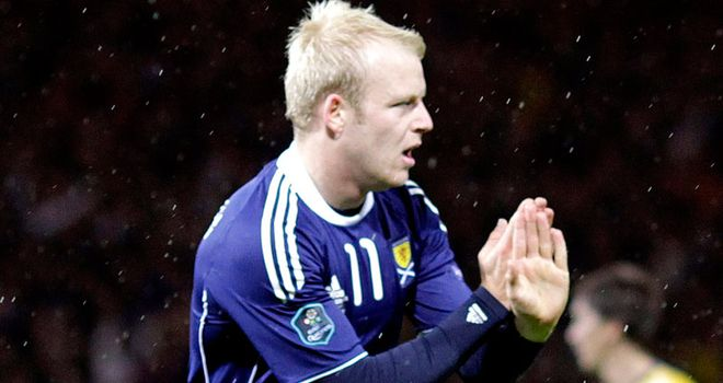 Naismith: Was on target as Scotland edged 1-0 victory