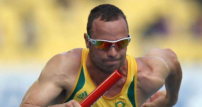 Oscar Pistorius: fell short of the 'A' standard by just two tenths of a second