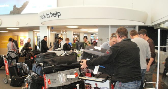 Taken to excess: the Sky Sports News HD team go over their luggage allowance