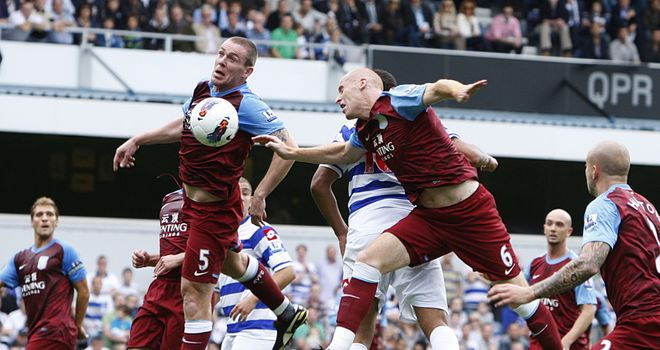 Richard Dunne and James Collins: Villa defenders in the heart of the action again