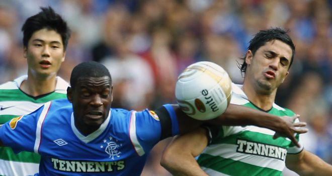 Beram Kayal (right): Midfielder dismisses suggestions that he wanted to leave Celtic