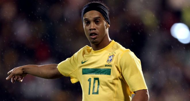 Ronaldinho: Drew Brazil level against Mexico with his first international goal since October 2007