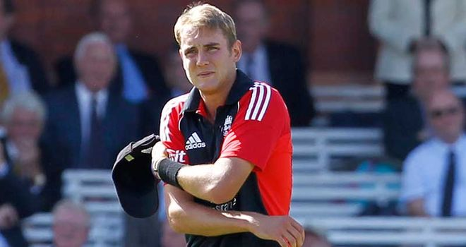 Broad: Unlikely to play in T20 in India
