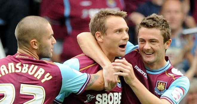 Taylor: Mobbed after netting for Hammers