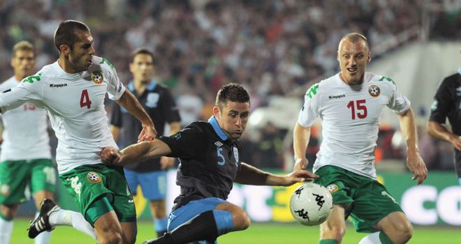 Cahill: Netted his first international goal in Sofia on Friday night
