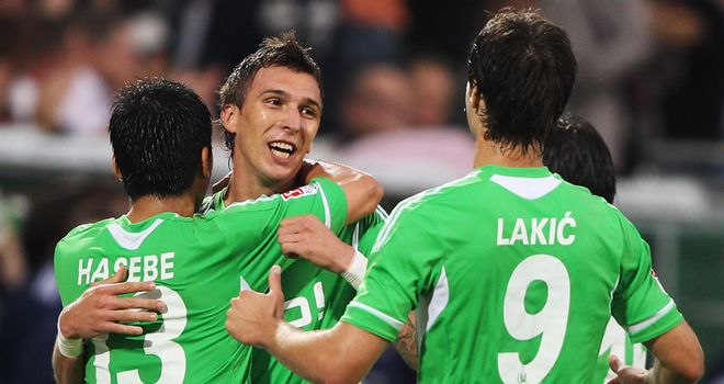 Mandzukic: Bagged a brace for Wolfsburg as they defeated Schalke