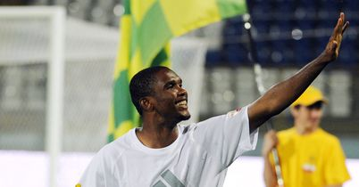 Eto'o: Waves to Anzhi's fans