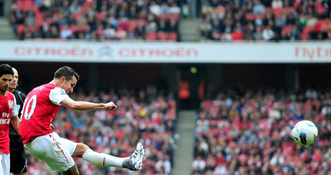 Robin van Persie: Led Arsenal by example to a 2-1 victory over Sunderland at the Emirates