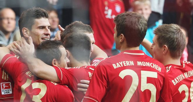 Mario Gomez: Bagged a brace as table-topping Bayern eased past Nurnberg