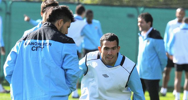 Carlos Tevez: Striker is expected to return to Manchester City and could be involved in the run-in
