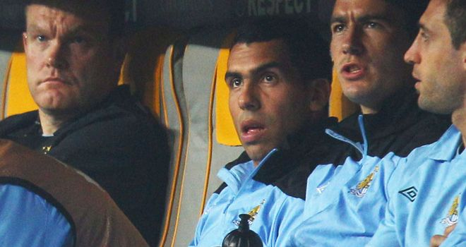 Carlos Tevez: Set to be charged with refusing to warm up against Bayern Munich