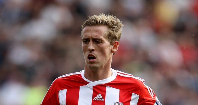 Peter Crouch: Enjoying life at Stoke and happy to have got off the mark for his new club