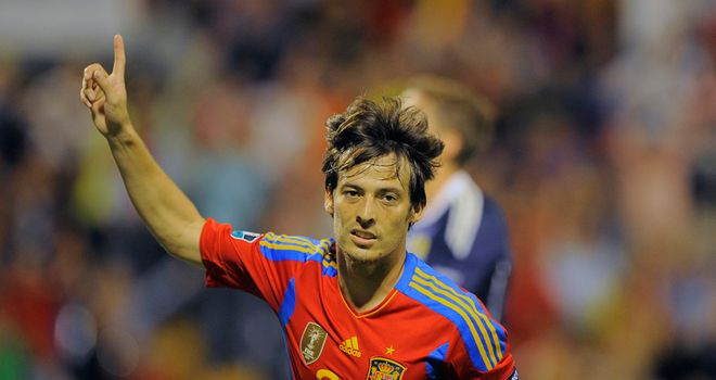 David Silva found the target twice in the first half to put Spain in complete control