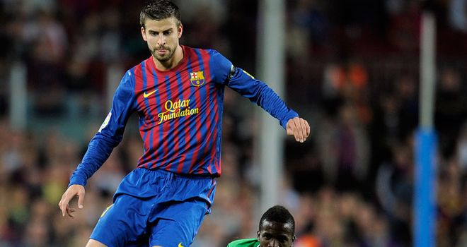 Gerard Pique: Sent off for Barcelona against Sporting Gijon