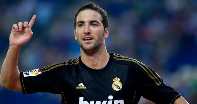 Higuain: Netted a hat-trick against Espanyol