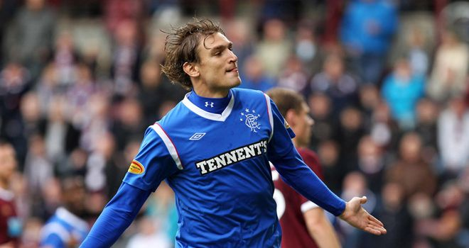 Nikica Jelavic: First-team coach Ian Durrant hopes Rangers hold on to striker when transfer window reopens
