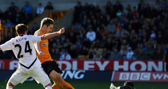 Doyle: The Irish striker tapped home from close range to start Wolves' dramatic comeback