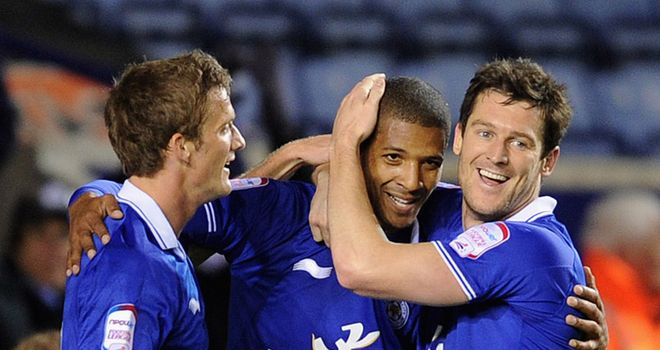 Andy King: The Leicester man hoping he will be celebrating a win over Millwall with Jermaine Beckford and David Nugent on Saturday