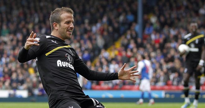 Rafael van der Vaart: Has shunned the plaudits despite brace at Blackburn