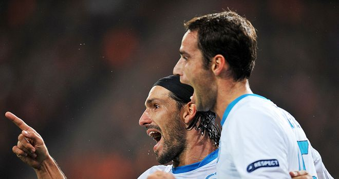 Roman Shirokov: Was on target with a double for Zenit against Benfica