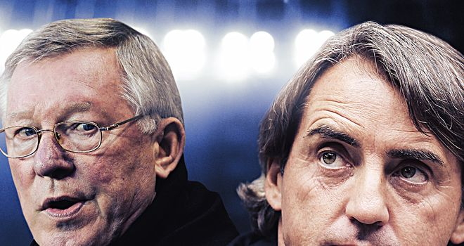 Ferguson and Mancini: title rivals