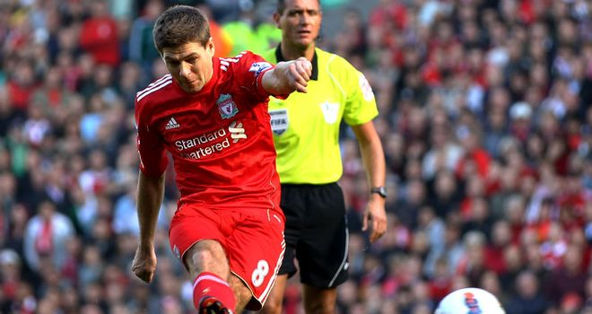 Steven Gerrard: Liverpool's captain played his first 90 minutes in seven months