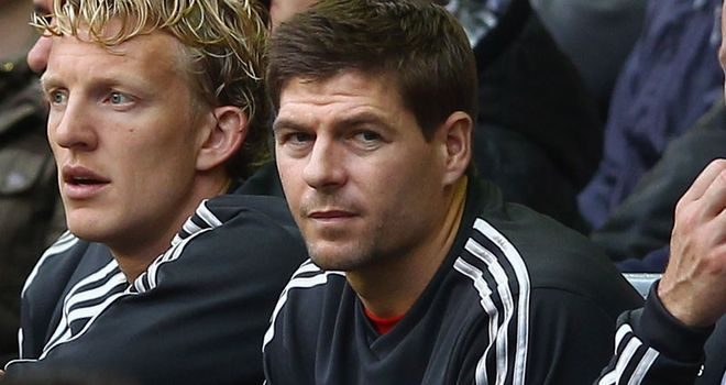 Steven Gerrard: Has only been involved as a substitute for Liverpool this season