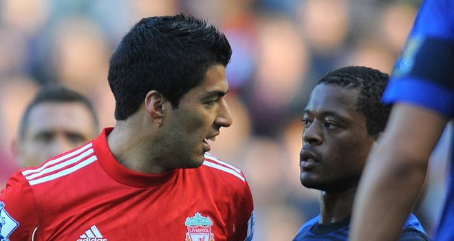 Patrice Evra: The United defender has accused Suarez