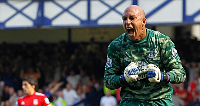 Tim Howard: Has helped Everton move back into the top half of the Premier League table
