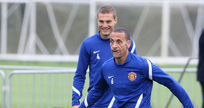 Nemanja Vidic: Jumps to the defence of under-fire team-mate Rio Ferdinand