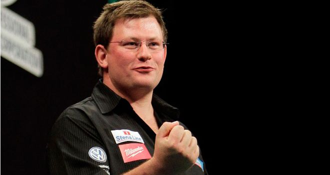 James Wade: Looking to pick up the £40,000 first prize at the UK Open
