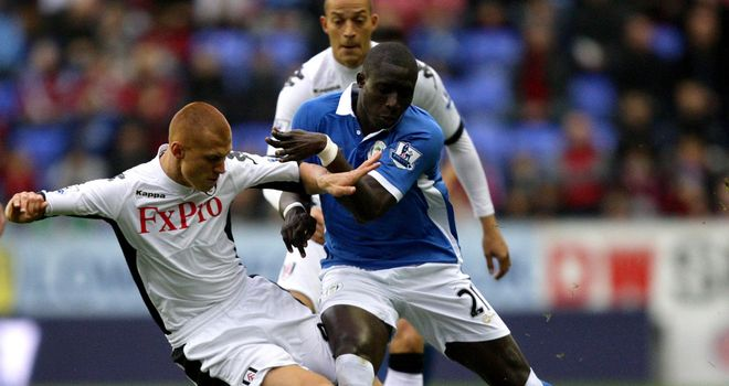 Mohamed Diame (centre): Wigan midfielder suffered ankle ligament damage against Fulham