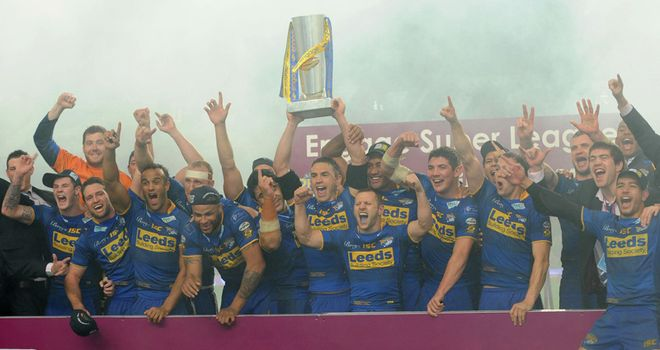 Stuff of champions: Leeds celebrate their 2011 Grand Final victory
