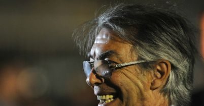Massimo Moratti: Vents his spleen at referee