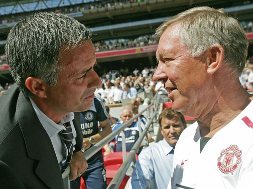 Mourinho (l) is well respected by Ferguson