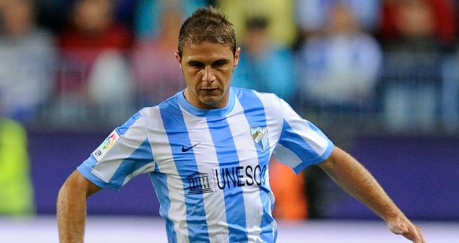 Joaquin: The Malaga star suffered a grade-two tear in the right quadricep