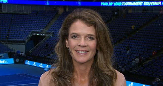 Annabel Croft: part of Sky Sports' US Open team