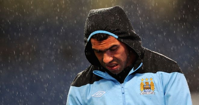 Carlos Tevez: The Manchester City striker's situation has gone 'backwards' according to Gordon Taylor