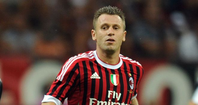 Antonio Cassano: Back in training with AC Milan and could soon start playing again